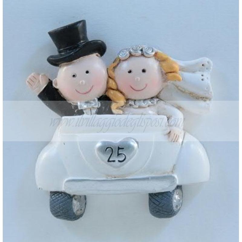 vendita online magnete sposi nozze d 39 argento
