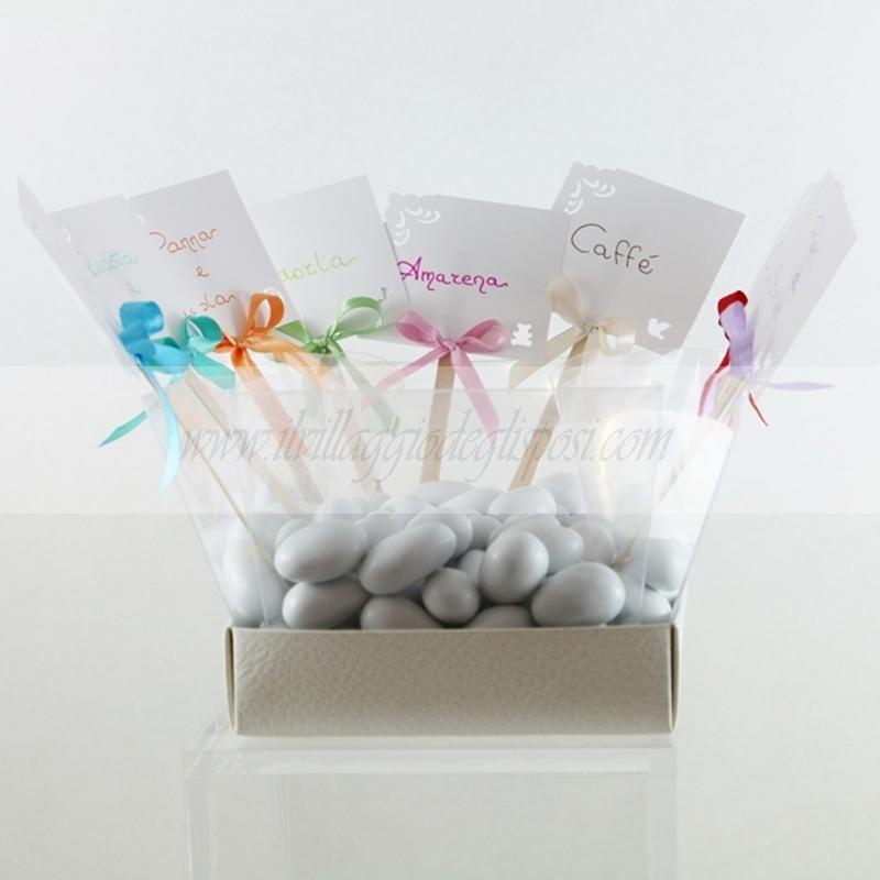 Top Vendita online Segnagusto per confetti e caramelle personalizzabile AS53