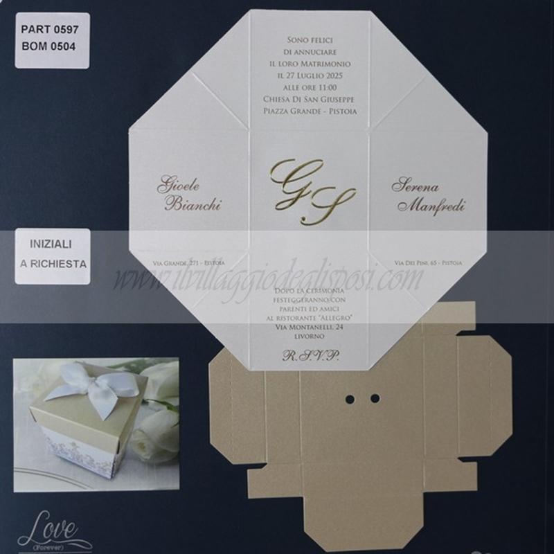 Partecipazioni Matrimonio Scatola.Vendita Online Partecipazione A Scatola Stampa Inclusa