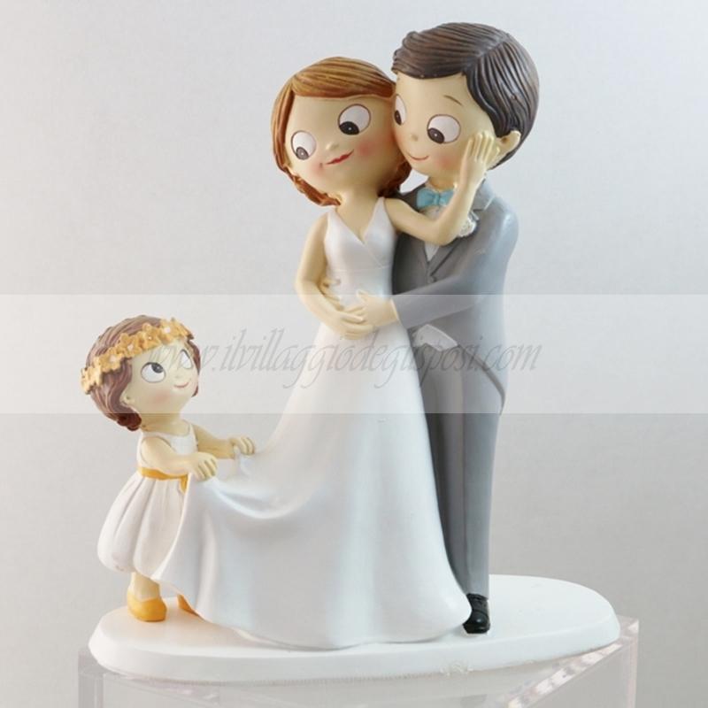 Matrimonio Con Uomo Con Figli : Vendita online cake topper sposi con bimba ampliabile
