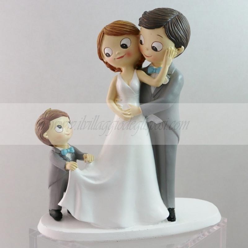 Matrimonio Con Uomo Con Figli : Vendita online cake topper sposi con bimbo ampliabile