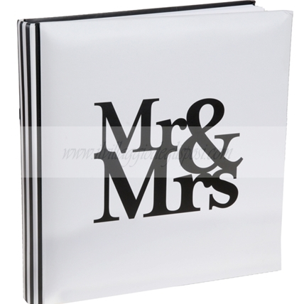 Guestbook bianco con stampa Mr&Mrs
