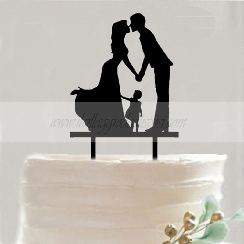 Cake Topper Silhouette Sposi Il Villaggio Degli Sposi Ornamento Di