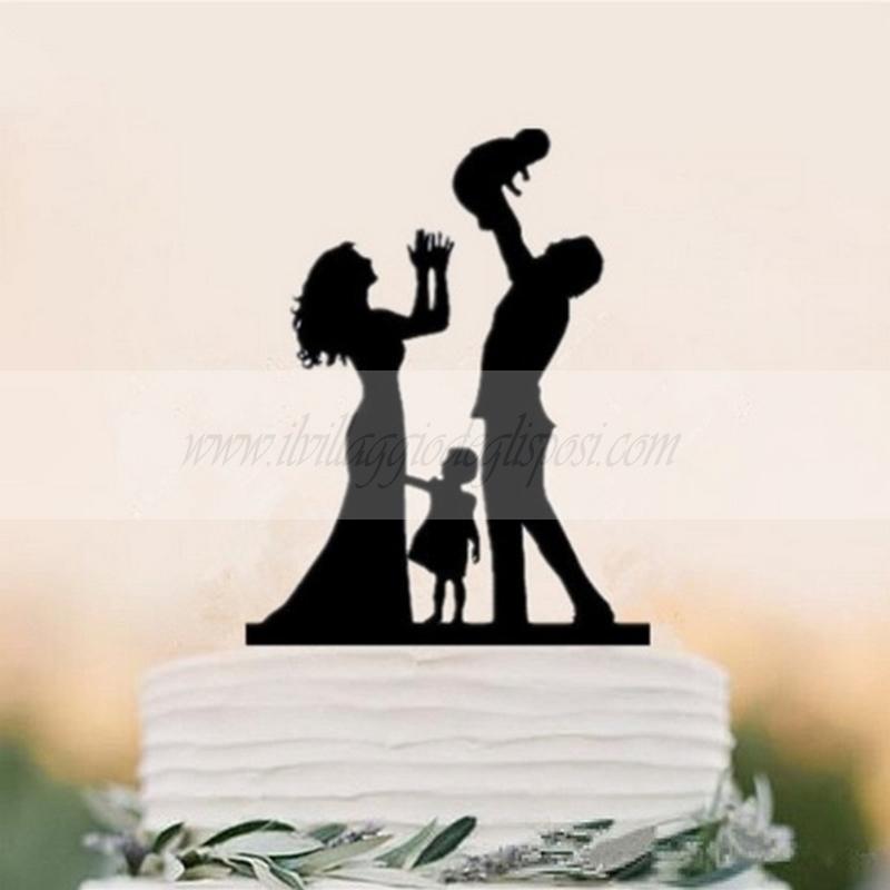 Cake Topper Silhouette Sposi Il Villaggio Degli Sposi