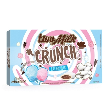 Maxtris Two Milk Crunch Zucchero Filato - 1 Kg