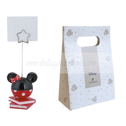 Memoclip MINNIE rosso/nera con shopper box disney