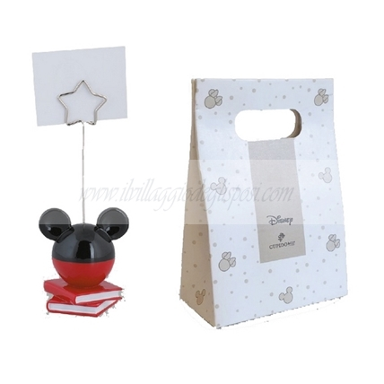 Memoclip MICKEY rosso/nero con shopper box disney
