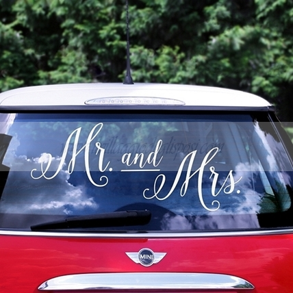 "Sticker per auto ""MR AND MRS"""