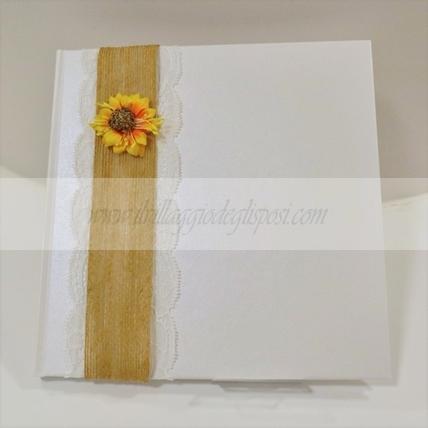 Guestbook Matrimonio Girasoli : Accessori ricevimento guestbook il villaggio degli sposi
