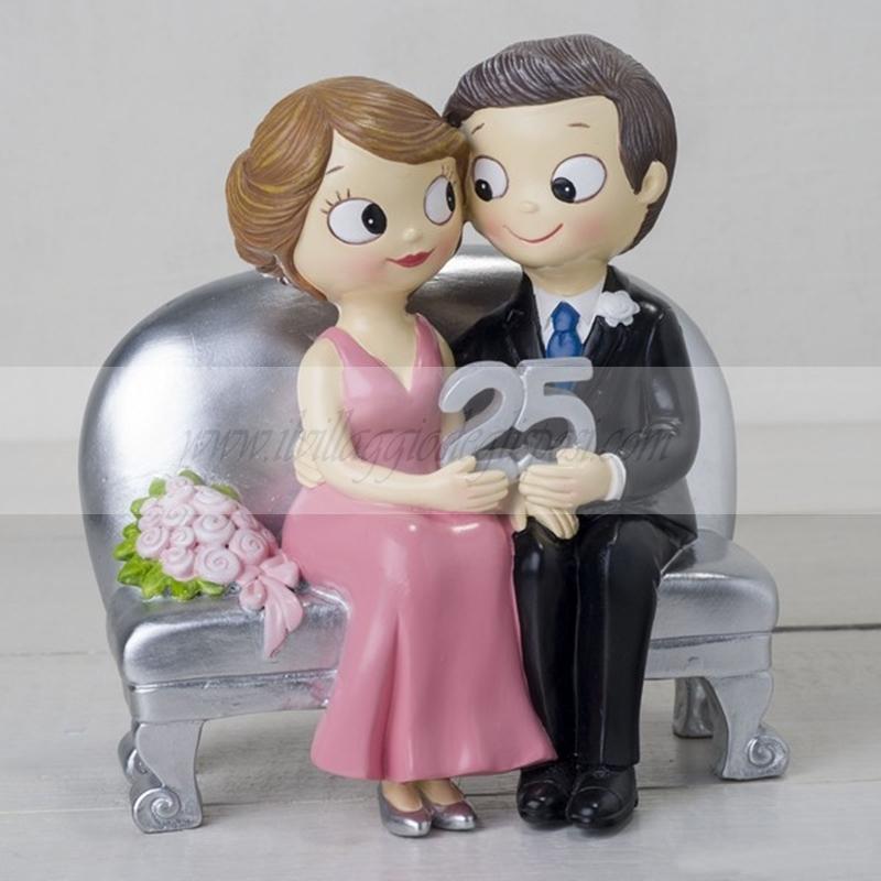 Anniversario 25 Anni Matrimonio.Vendita Online Cake Topper Per Anniversario 25 Anni Di Matrimonio