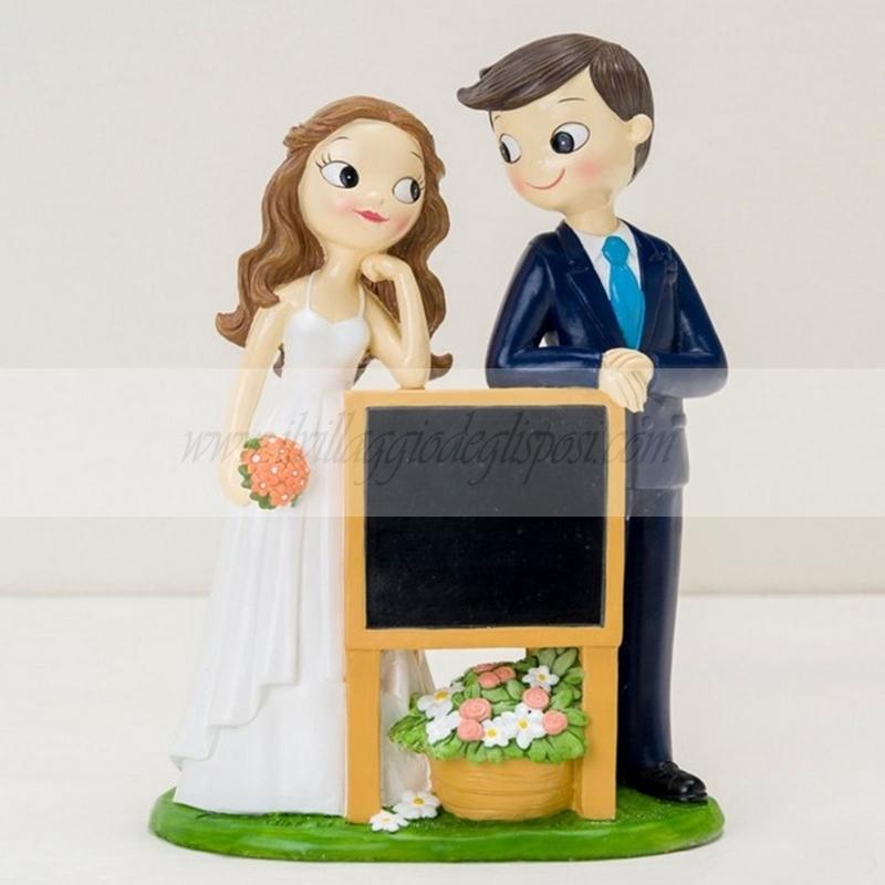 cad1578e2e9 Vendita online Cake topper sposi con lavagna