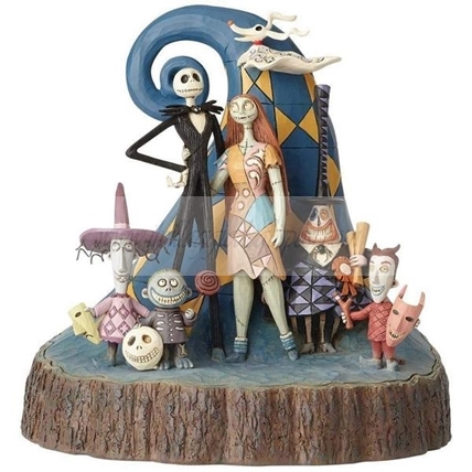 Walt Disney Traditions - Personaggi Nightmare Before Christmas scolpiti nel legno!!