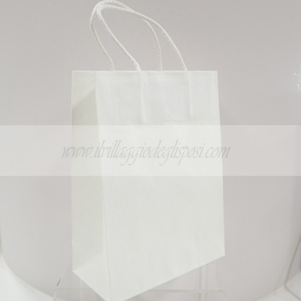 Wedding Bag Harmony bianca con cordino 19x9x25