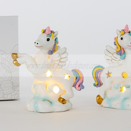 Unicorno lampada led - multipli di 2 ass