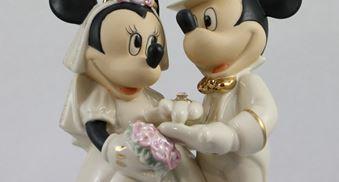 Bomboniere Disney Matrimonio.Cake Topper Statuine Per Torte Disney Il Villaggio Degli Sposi