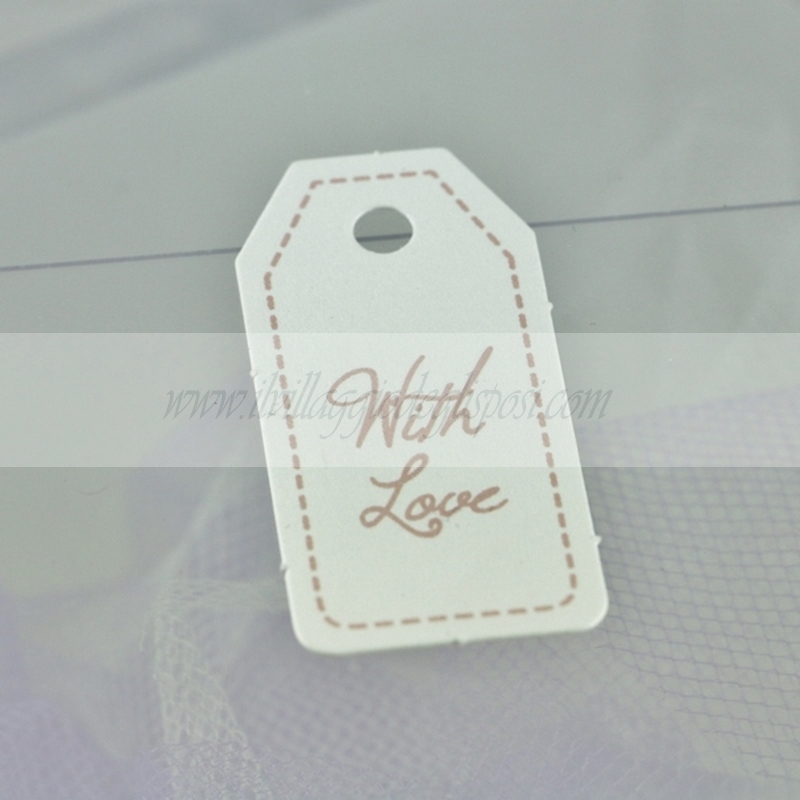 "24 Tag con scritta ""with love"" - GRIGIO O ROSA"