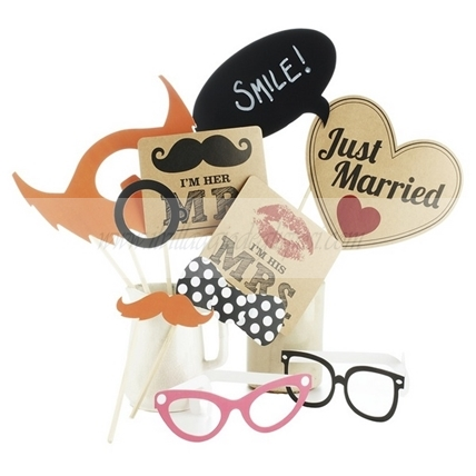 Accessori per photo booth stile vintage