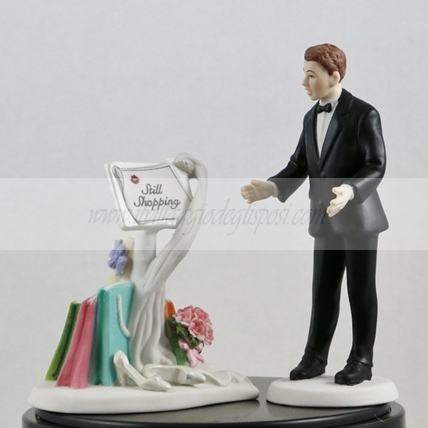 "Cake topper porcellana ""ancora shopping"""