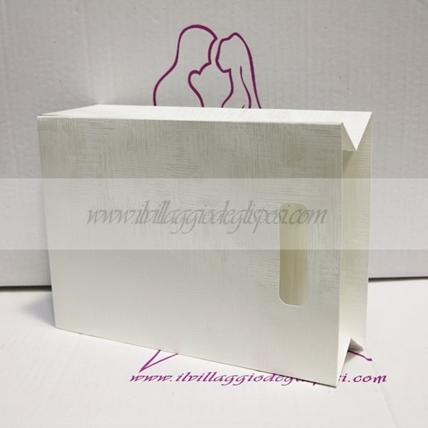 Bag in cartoncino bianco grande 27x20x9