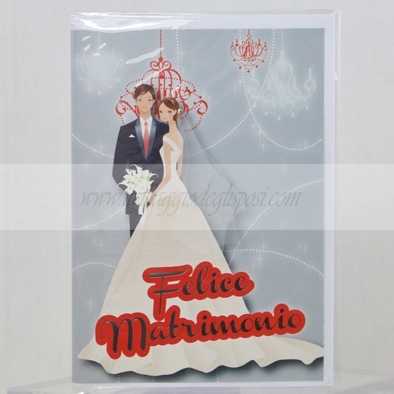 Matrimonio Auguri Biglietto : Vendita online biglietto d auguri per matrimonio felice