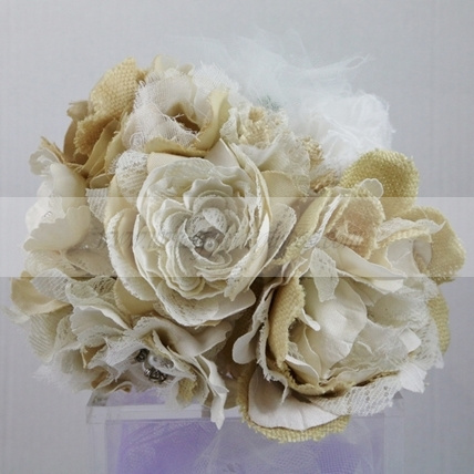 Bouquet artificiale fiori e strass