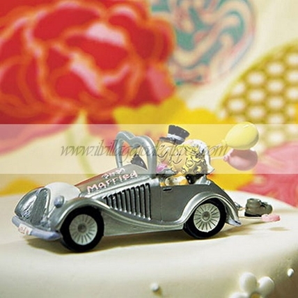 Cake topper auto just married