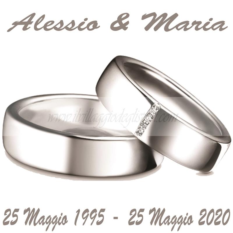 Anniversario 25 Di Matrimonio.Vendita Online Etichetta Quadrata Per 25 Anni Di Matrimonio