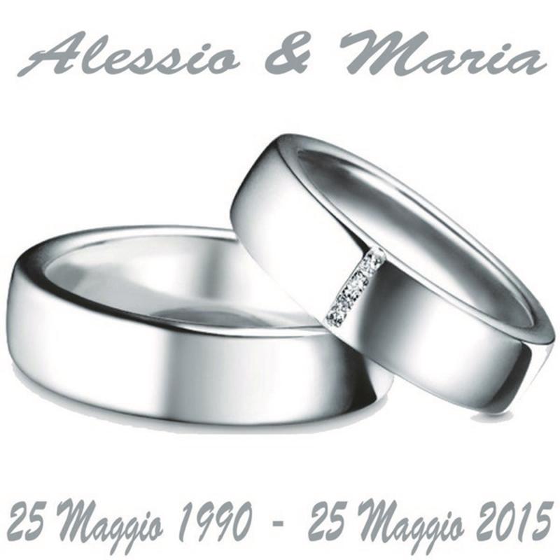 Super Vendita online Etichetta quadrata per 25 anni di matrimonio DI44