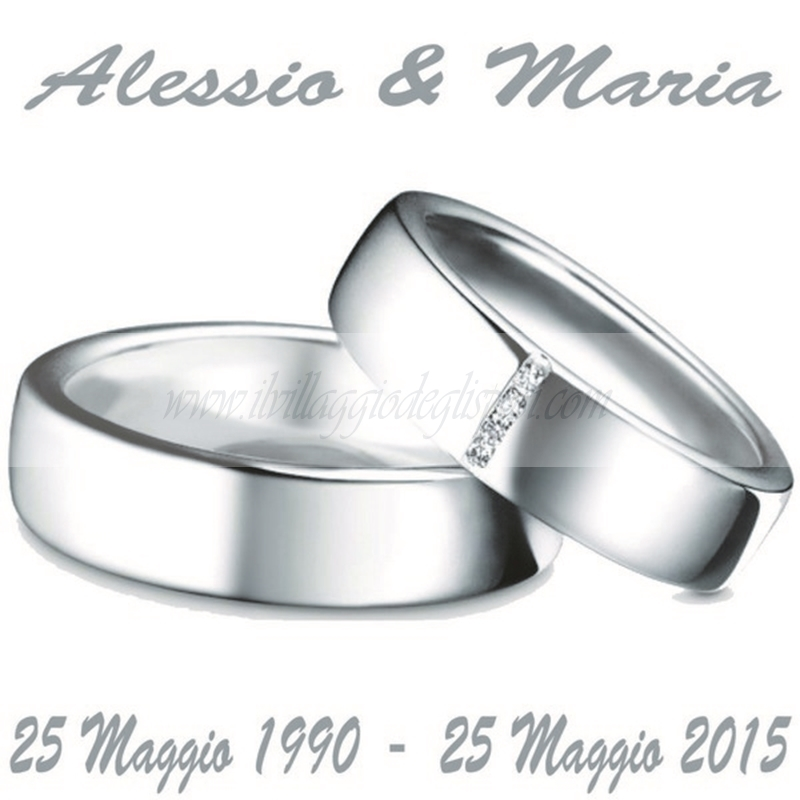Ben noto Vendita online Etichetta quadrata per 25 anni di matrimonio PI15
