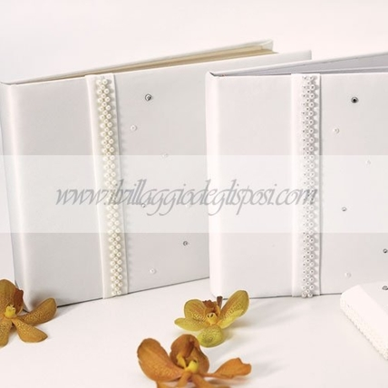Guestbook con punti luce BIANCO
