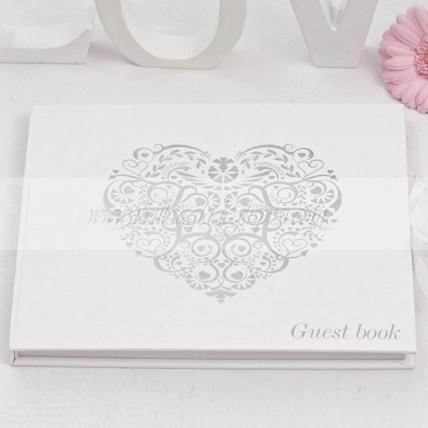 Guestbook cuore vintage