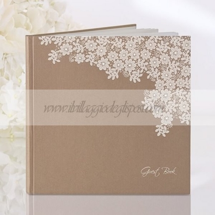 Guestbook con roselline in pizzo