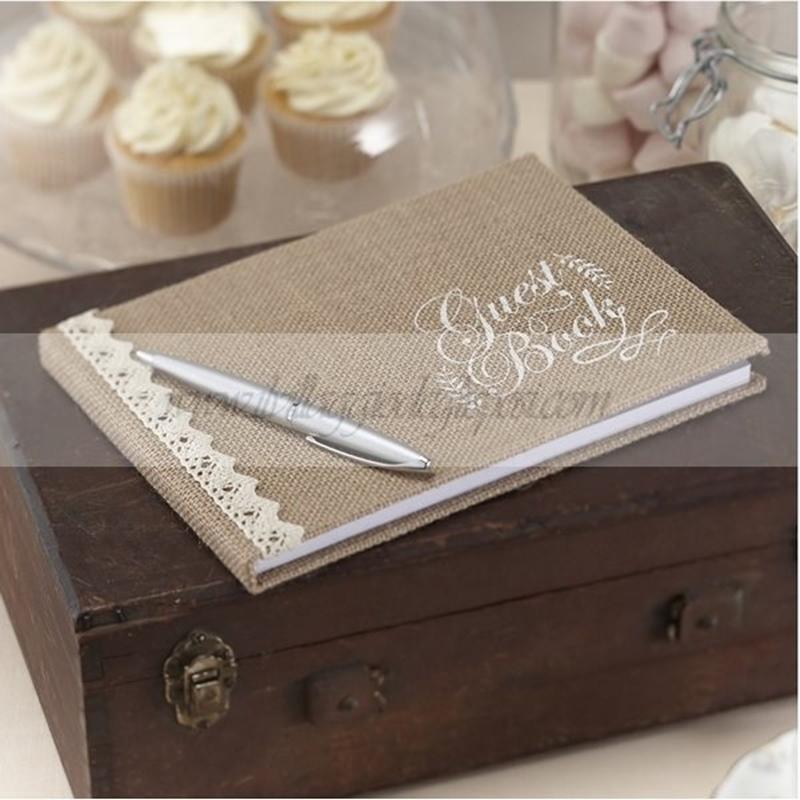 Guestbook Matrimonio Rustico : Vendita online guestbook in juta