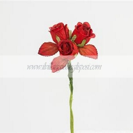 12  Roselline rosse decorative