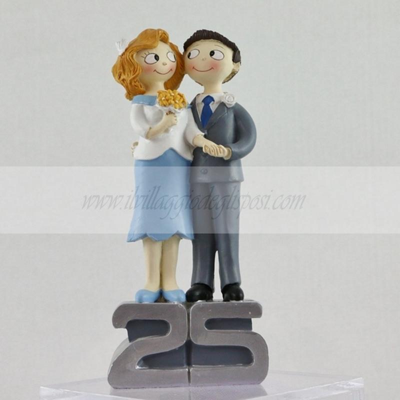 Super Vendita online Cake topper per anniversario 25 anni di matrimonio GK03