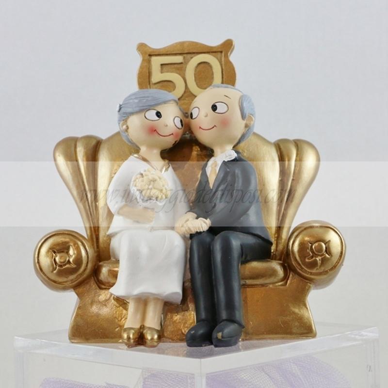 Popolare Vendita online Cake topper per anniversario 50 anni di matrimonio XL44