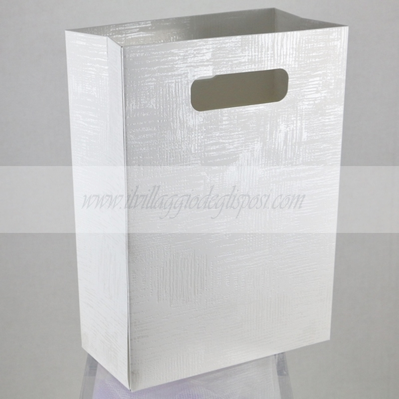Matrimonio In Lilla : Vendita online wedding bag in cartoncino bianco
