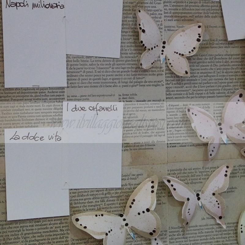 spesso Vendita online Tableau Mariage tema farfalle YY11